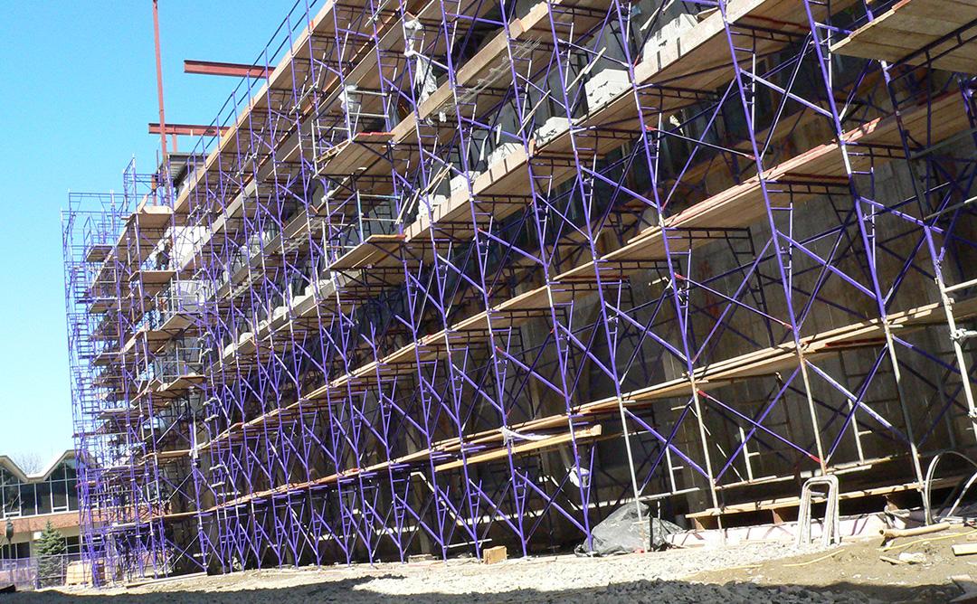 Edifici en construcció.