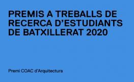 Premio COAC de Arquitectura para estudiantes de batchillerato
