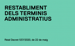 Restabliment dels terminis administratius
