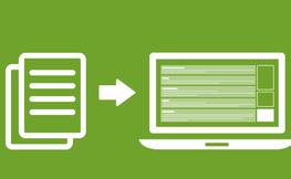 Logo que representa la visualització d'un archiu a un portatil.