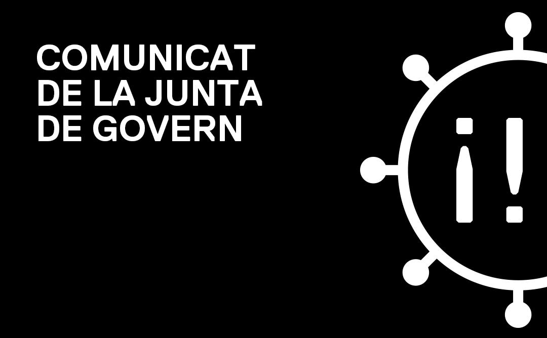 Comunicat de la Junta de Govern