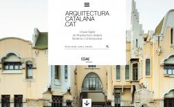 La pantalla de inicio del portal arquitecturacatalana.cat