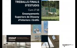 Exposició: Treballs Finals d'Estudis de Disseny d'Interiors i Gràfic (EASDVic)