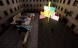 Muntatge de l'exposició Gameplay