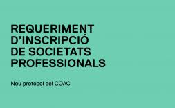 requeriment d'inscripció de societat professionals