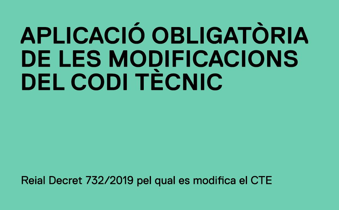 Modificacions del CTE
