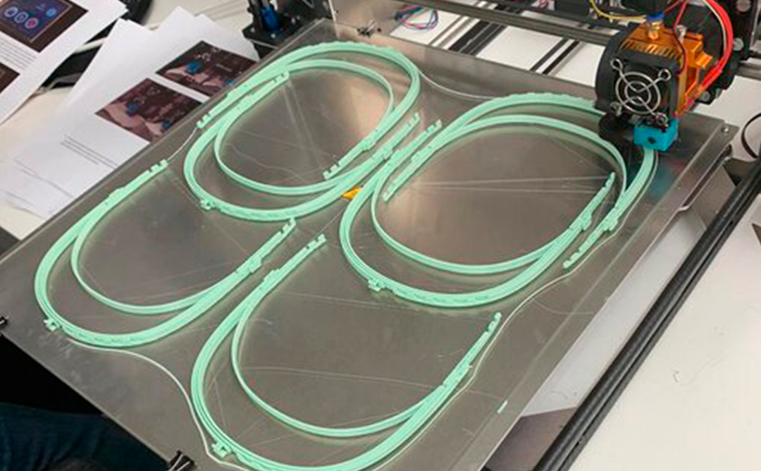 La impressora 3D fabricant mascaretes sanitàries